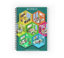 Business Cell Isometric Spiral Notebook