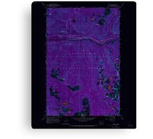 USGS Topo Map Washington State WA Scenic 243592 1965 24000 Inverted Canvas Print