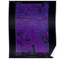 USGS Topo Map Washington State WA Scenic 243592 1965 24000 Inverted Poster