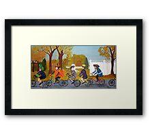 Halloween Bike Ride Framed Print