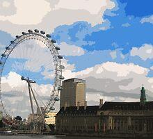 London Eye artwork by cycreation
