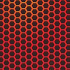 Red Hexagonal Pattern by hmx23