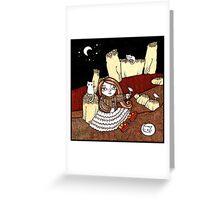 Ninas Night Watch (Nine Staines) Greeting Card