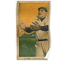 Benjamin K Edwards Collection Stubbe Goldsboro Team baseball card portrait Poster