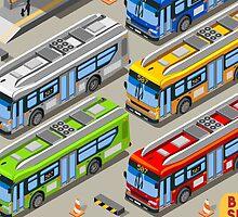 City Bus Set by aurielaki