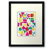 Graphic Alphabet Framed Print