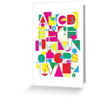 Graphic Alphabet Greeting Card