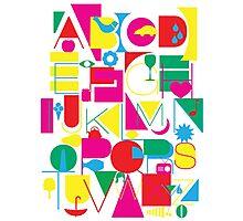 Graphic Alphabet Photographic Print