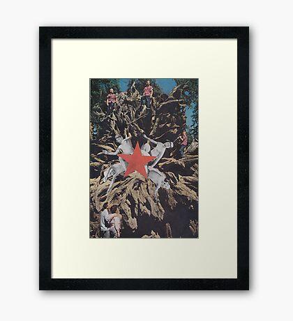 ' Red Star ' Framed Print