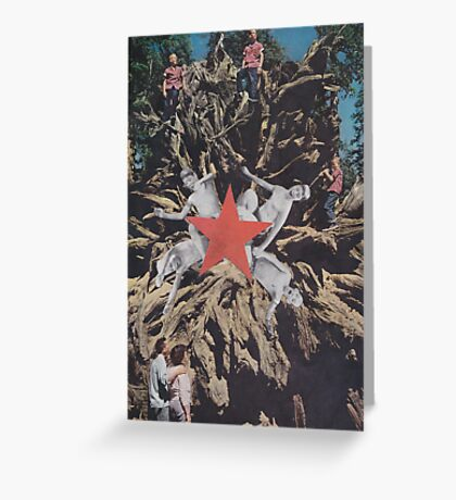 ' Red Star ' Greeting Card