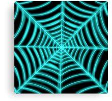 spider web(blue glowing) Canvas Print