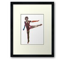 Digital Dancer Framed Print