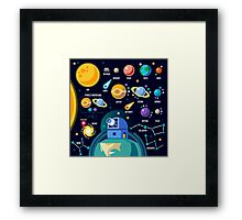 Universe Concept Isometric Framed Print