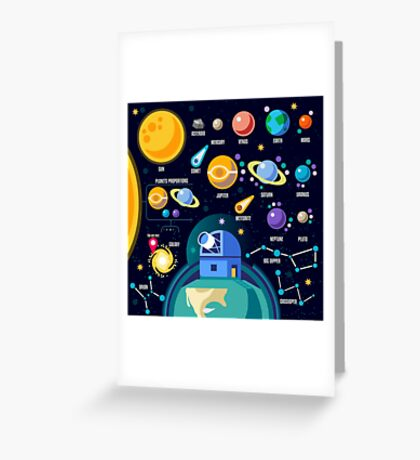 Universe Concept Isometric Greeting Card