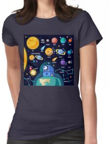 Universe Concept Isometric Womens Fitted T-Shirt