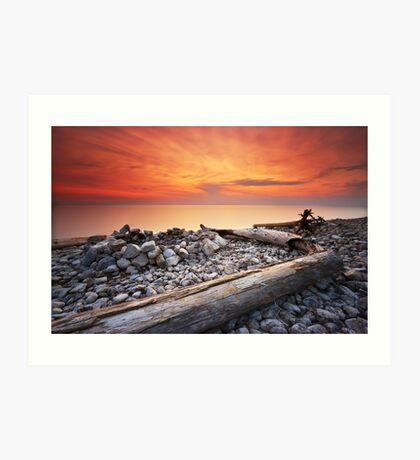 Sunset on Washington Island Art Print