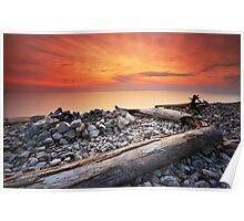 Sunset on Washington Island Poster