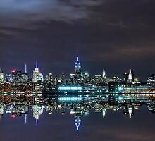 New York City Skyline @ Night ~ New York City ~ USA by Sabine Jacobs