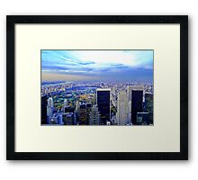 Overlooking Central Park ~ New York City ~ USA Framed Print