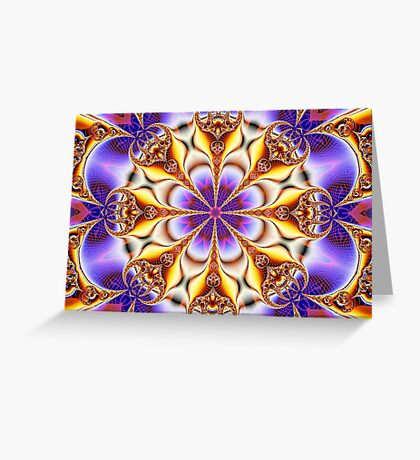 Fire And Ice Floral Design Greeting Card
