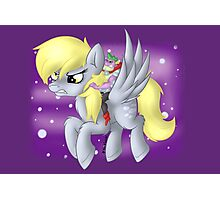 Derpy Hooves Sir Spike Photographic Print