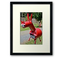 Rural Donkey. Framed Print