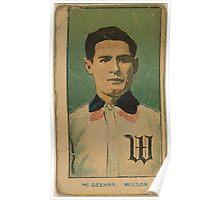 Benjamin K Edwards Collection McGeehan Wilson Team baseball card portrait Poster