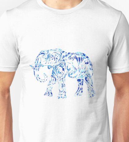 Blue Tribal Elephant Unisex T-Shirt