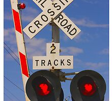 Railroad Crossing - iPhone Case  by Buckwhite