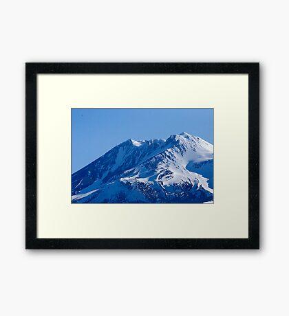Shasta Mountain Framed Print