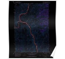 USGS Topo Map Indiana ID Limekiln Rapids 236884 1968 24000 Inverted Poster