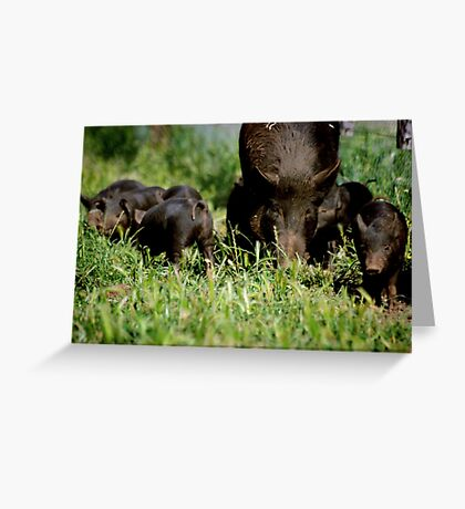 Mother and Her Little Ones Greeting Card