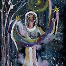 WINTER SOLSTICE  MOON AND STARS MAIDEN by eoconnor