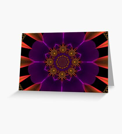Sun Burst Kaleidoscope Guilloche I Greeting Card