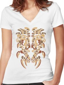 Tribe Mask Women's Fitted V-Neck T-Shirt