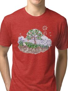 Gaia with outback persimmon tree Tri-blend T-Shirt