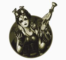 Steampunk Girl Sticker by Bethalynne Bajema