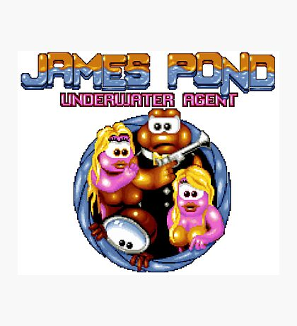 James Pond - SNES Title Screen Photographic Print
