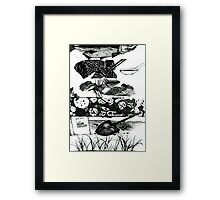 Fish Compost: From start to finish  Framed Print