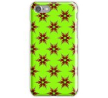 Fractal Flower on Green iPhone Case/Skin