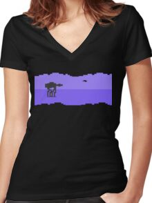 Hoth Women's Fitted V-Neck T-Shirt