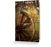 And the Wheel Went Round..... Greeting Card