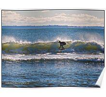 Surfs Up at Deep Hole - Matunuck - Rhode Island Poster