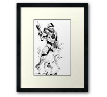 Chief and his Mighty Steed Framed Print