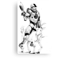 Chief and his Mighty Steed Canvas Print