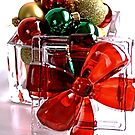 Gift Wrapped - Christmas Baubles in a glass box by Joy Watson