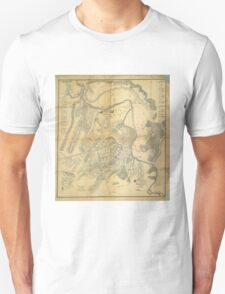 Civil War Battlefield of Young's Branch or Manassas Map July 21 1861 T-Shirt
