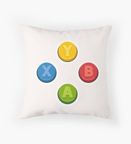 Xbox Controller Buttons Throw Pillow