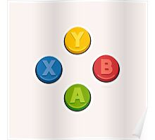 Xbox Controller Buttons Poster