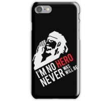 MGS07 - SALUTE, NO HERO iPhone Case/Skin